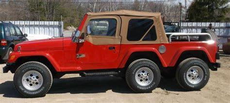 6 Wheel Jeep Buy Used 1997 Custom Built 6 Wheel Jeep Wrangler Sport