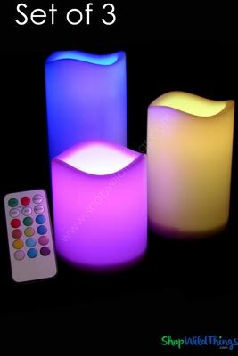 Kaos Multi Size One Thing led multi colored candle set remote shopwildthings