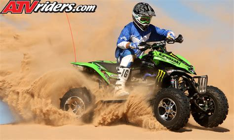 Atv Kawasaki Kfx450r Race chad wienen joins factory kawasaki atv race team for 2009