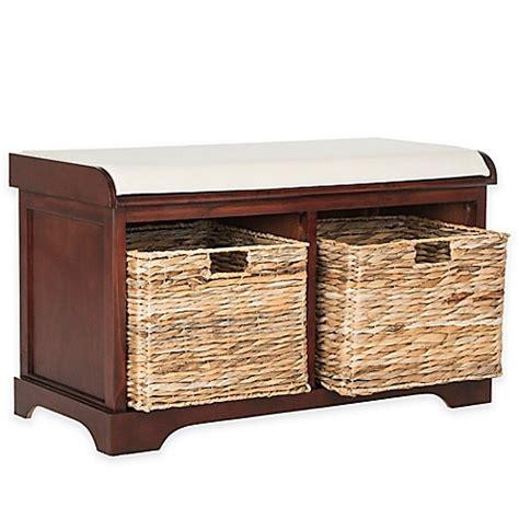 wicker bench with storage safavieh freddy wicker storage bench bed bath beyond