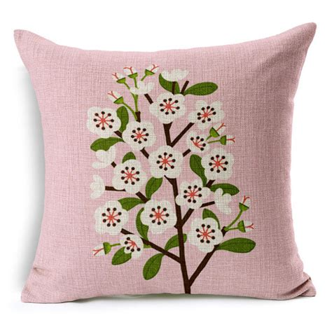 throw cushions for decor home peach blossom cushion home decor cushion linen decorative