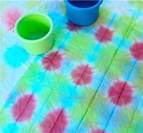 Tie Dye Paper Craft - tie dye tissue paper craft ideas