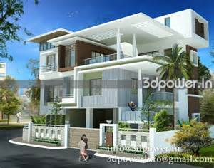 ultra modern architecture at 3d power house design and decorating 3d modeling rendering bungalow in addition home exterior design house