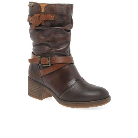 Shoes High Heel 831qc Semi Premium Heels 5cm lyst pikolinos lille womens calf length boots in brown