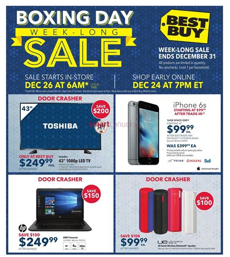 best buy canada best buy canada boxing day boxing week flyer deals 2015