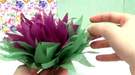 Blumen Aus Servietten Basteln by Diy Weihnachtsstern Blume Aus Servietten Falten Tutorial
