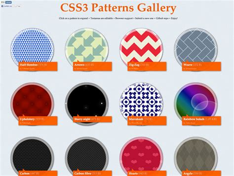 pattern in css css3 patterns best web design tools