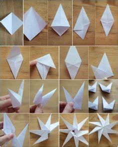 kerzenhalter in sternform falten anleitung origami sterne falten ise