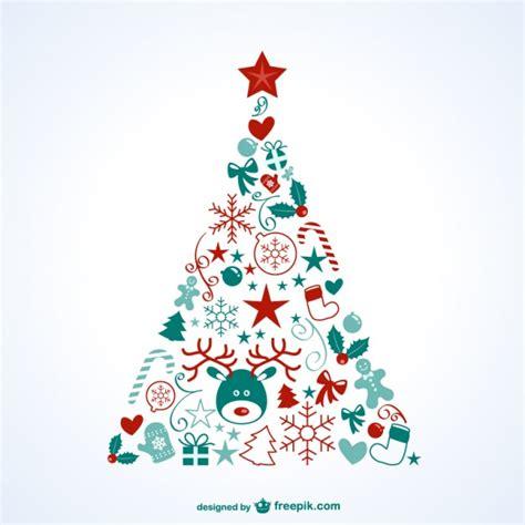 193 rbol de navidad con iconos descargar vectores gratis