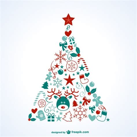 weihnachtsbaum mit symbolen download der kostenlosen vektor