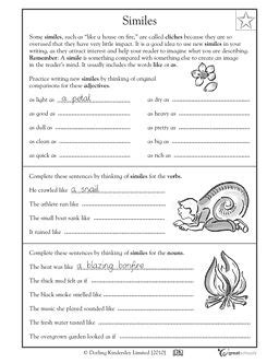 Simile And Metaphor Worksheet For Middle School by Pin By Schnabel On Classroom