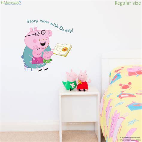 story wall stickers uk peppa pig story time wall sticker stickerscape uk