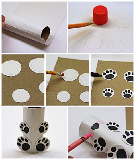 How To Make A Polar Out Of Paper - cardboard polar crafts by amanda