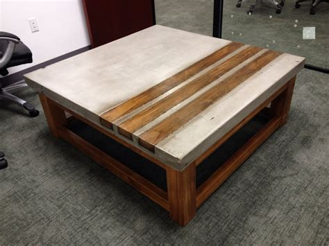 Concrete And Wood Coffee Table Concrete Wood Coffee Table