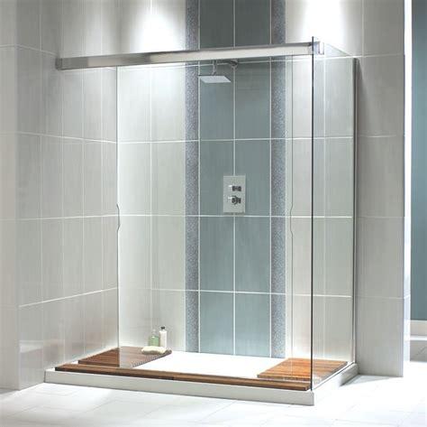 C Shower by Aqualux Aquaspace Walk Through Shower Panel 1700mm
