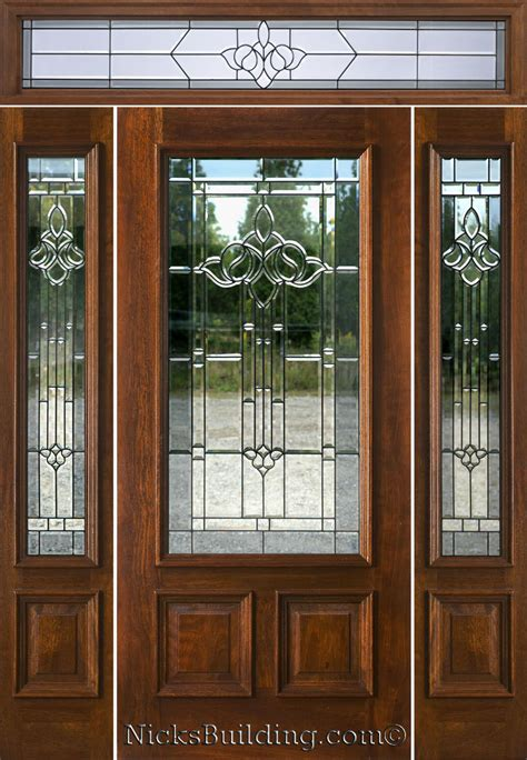 Exterior Door With Transom Mahogany Exterior Doors With Sidelights And Transoms 68