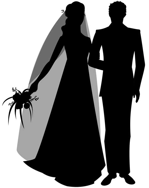 Wedding Siluet by Wedding Silhouette Clip Best Web Clipart