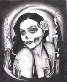 gangster pencil drawings skull lady gangsta by greenday75 on deviantart