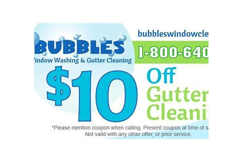 bubbles gutter cleaning coupons