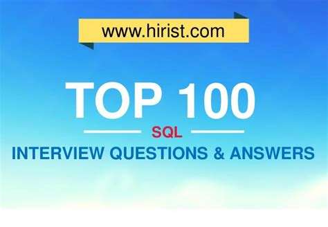 preguntas de entrevista oracle top 100 sql interview questions and answers infographs