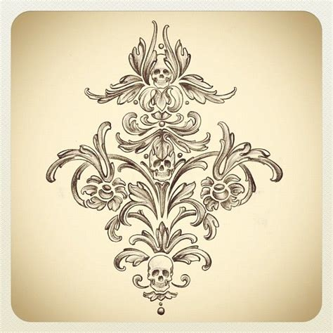 damask tattoo best 25 damask ideas only on