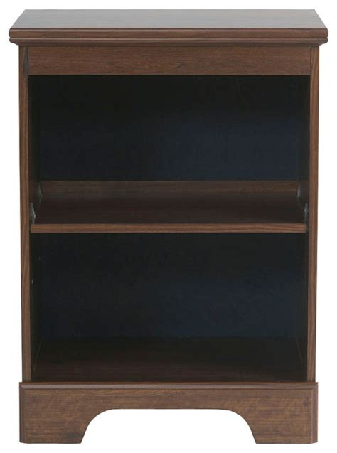 standard furniture bookcase nightstand in brown