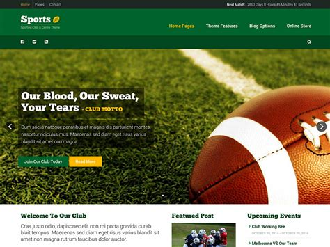 Theme Blog Football | 20 best sports wordpress themes 2018 athemes