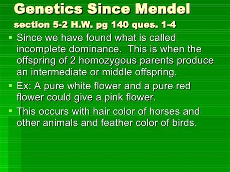 section 2 mendelian genetics chapter 5 heredity