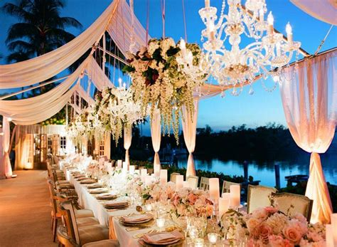 Naples Wedding Receptions by Luxurious Tented Naples Wedding From Lucia Events