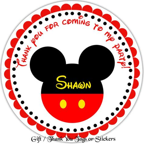 personalized stickers mickey mouse personalized stickers favor tags
