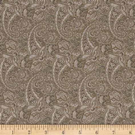 Taupe Quilting Fabric by Paisley Taupe Discount Designer Fabric Fabric