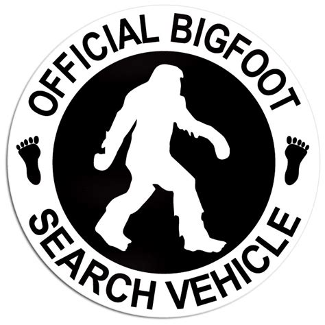 Big Foot Search Official Bigfoot Search Vehicle Decal Ships Free