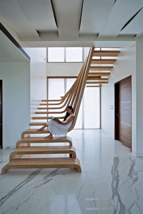 U Stairs Design Beautifully Sloping Wooden Staircase Creates A Sense Of Flow In The Home