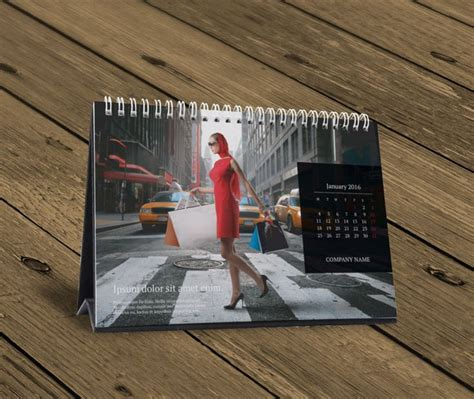 Table Calendar Desk Table Calendar 2016 Design Template Kb10 W13b