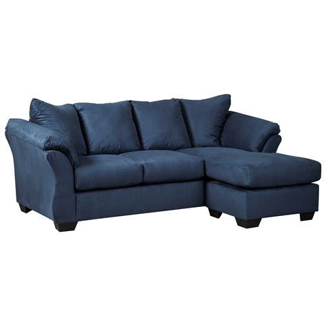 signature design by ashley darcy sofa chaise signature design by ashley darcy blue 7500718