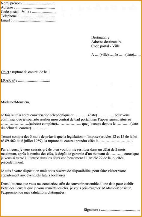 Exemple De Lettre Pour Quitter Logement Quelques Liens Utiles