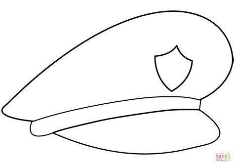 coloring page police hat police hat coloring page free printable coloring pages