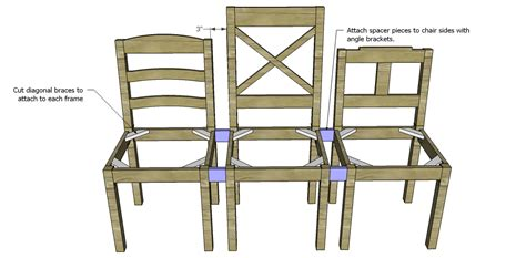Build A Dining Chair Bench Designs By Studio C How To Build Dining Room Chairs
