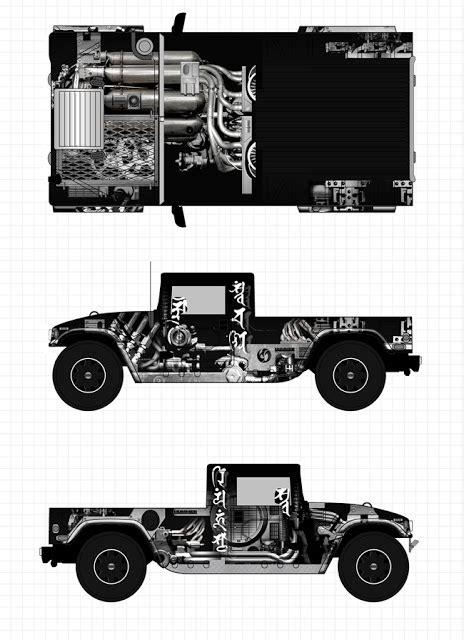 Creative Diary: custom painted Hummer H1