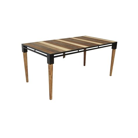 Small Metal Dining Table Medley Small Dining Table Acacia Wood Metal Base 65 5 36 30 Td1282s Ea 00 Tables Bois Cuir