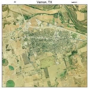 aerial photography map of vernon tx