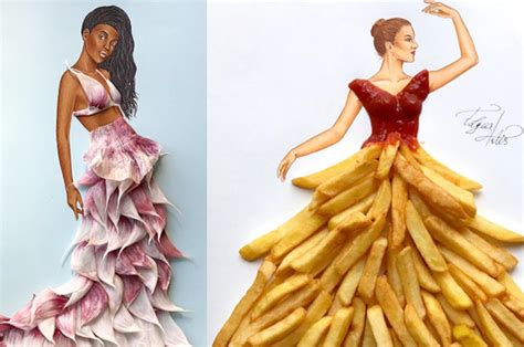 7 Fashion I Wish Would Follow by This Instagram Artist Creates Fashion From Food And Ugh I