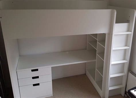 bed frame with desk ikea stuva loft bed frame with desk drawers and bed