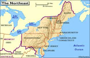 map of the united states northeast region quia class page northeast region january