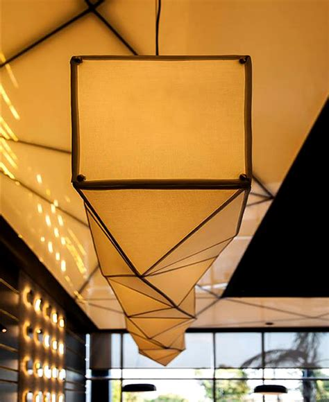 Origami Light Fixture Sushi Restaurant With Origami Lights Interiorzine