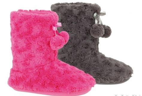 m s slipper boots slipper boots eskimo fluffy fur slippers s m l ebay