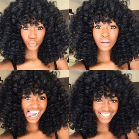 Crochet Hat With Curls And Bangs | crochet braids 32 pictures of hairstyles you can wear