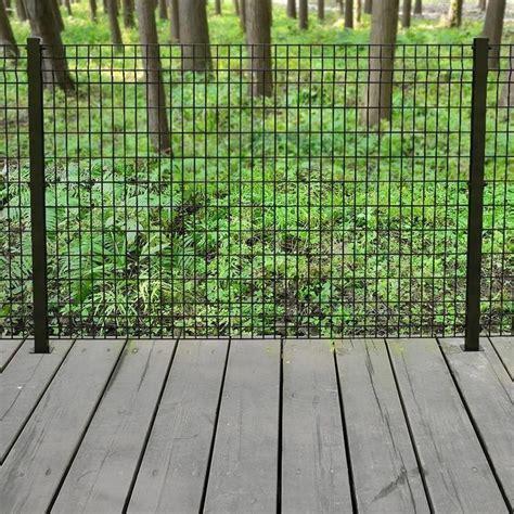 forgeright deco grid  ft   ft steel black fence panel