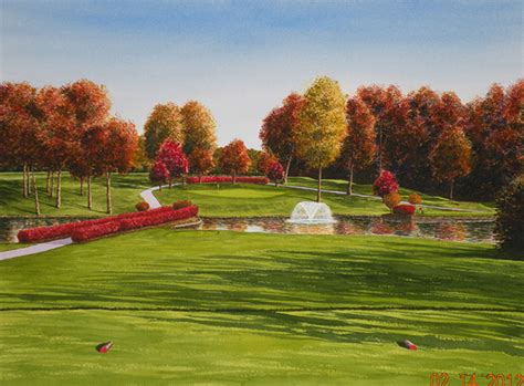 Log Cabin Club St Louis by Golf By G Nichols Watercolors On Behance