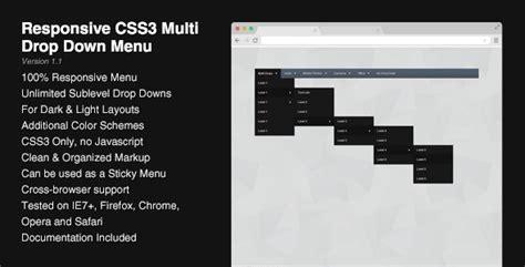 responsive layout menu to drop down responsive css3 multi drop down menu theme for u